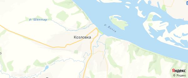 Карта Козловки с районами, улицами и номерами домов