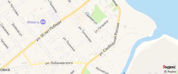Улица Гагарина на карте Козловки с номерами домов