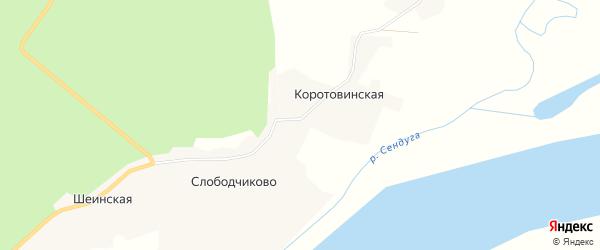 Карта села Слободчиково в Архангельской области с улицами и номерами домов