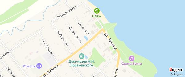 Садовая улица на карте Козловки с номерами домов