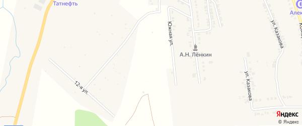Южная улица на карте Козловки с номерами домов