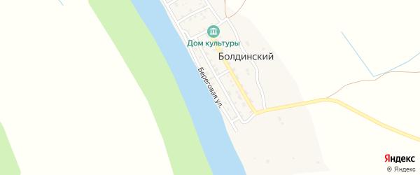 Береговая улица на карте Болдинского поселка с номерами домов