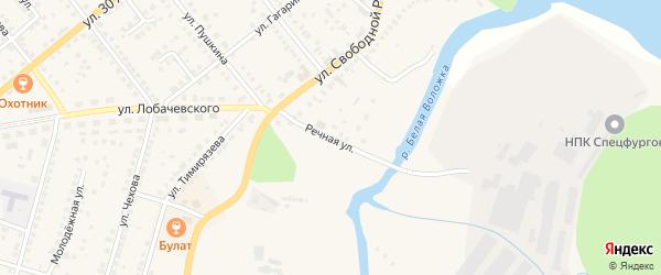 Речная улица на карте Козловки с номерами домов
