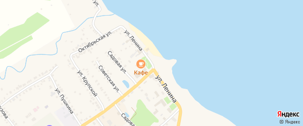 Улица Ленина на карте Козловки с номерами домов