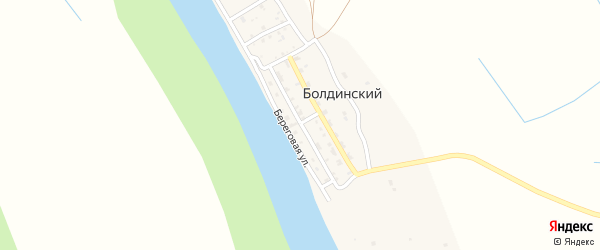 Улица Бондаренко на карте Болдинского поселка с номерами домов