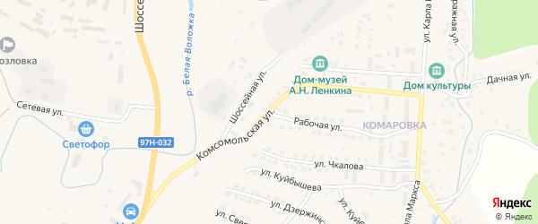 Комсомольская улица на карте Козловки с номерами домов
