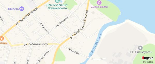 Улица Свободной России на карте Козловки с номерами домов