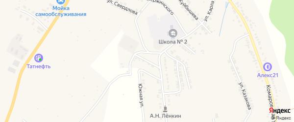 Школьная улица на карте Козловки с номерами домов