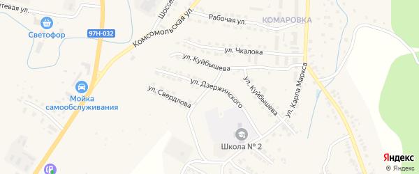 Улица Дзержинского на карте Козловки с номерами домов