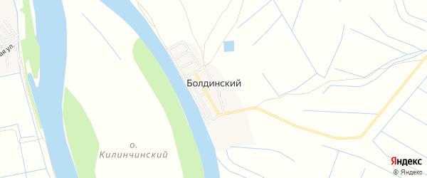 Карта Болдинского поселка в Астраханской области с улицами и номерами домов