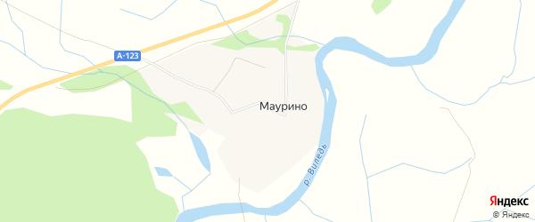 Карта деревни Маурино в Архангельской области с улицами и номерами домов