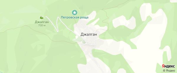 Карта села Джалгана в Дагестане с улицами и номерами домов