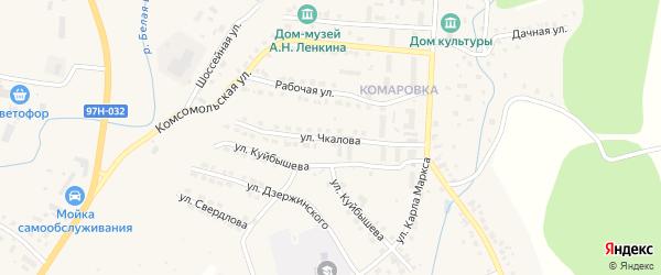 Улица Чкалова на карте Козловки с номерами домов