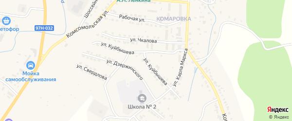 Улица Куйбышева на карте Козловки с номерами домов