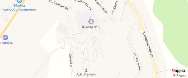 Улица Гастелло на карте Козловки с номерами домов