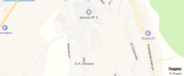 Улица Харитонова на карте Козловки с номерами домов