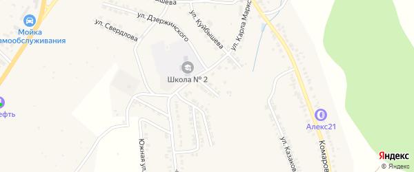 Нагорная улица на карте Козловки с номерами домов