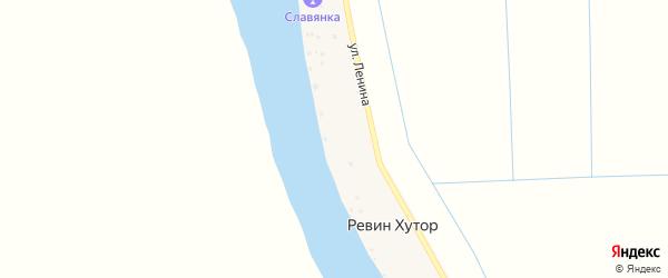 Улица Ленина на карте поселка Ревина Хутора с номерами домов