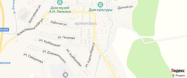Улица Карла Маркса на карте Козловки с номерами домов