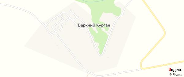 Верхнекурганская улица на карте деревни Верхнего Кургана с номерами домов