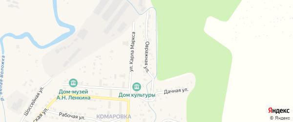 Овражная улица на карте Козловки с номерами домов