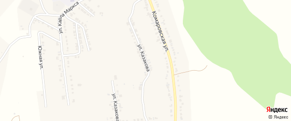 Улица Казакова на карте Козловки с номерами домов
