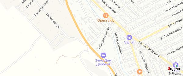 Проселочная улица на карте Дербента с номерами домов