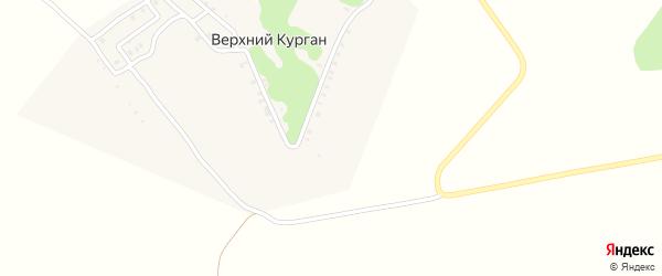 Улица 70 лет Октября на карте деревни Верхнего Кургана с номерами домов