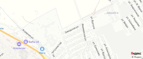 Заводская улица на карте Дербента с номерами домов