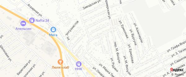 Фермерская улица на карте Дербента с номерами домов