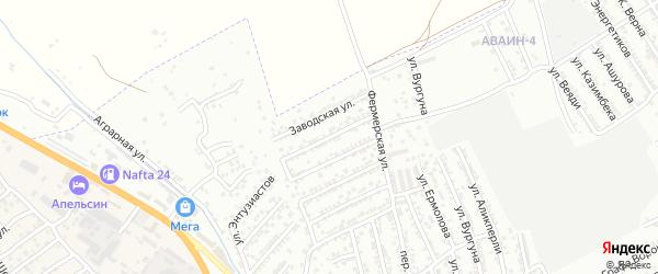 Коллективная улица на карте Дербента с номерами домов