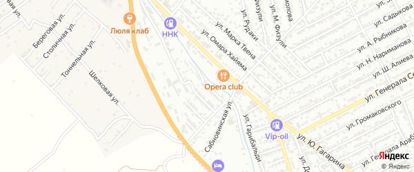 Оросительная улица на карте Дербента с номерами домов