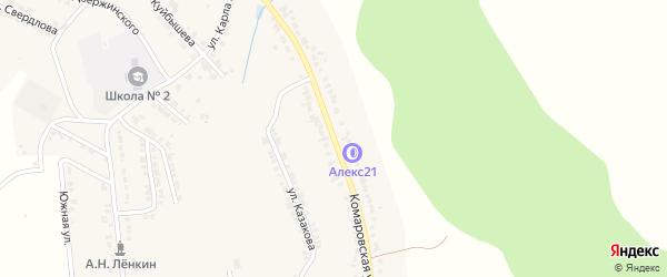 Комаровская улица на карте Козловки с номерами домов