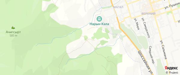 Карта села Уллу-Теркеме в Дагестане с улицами и номерами домов