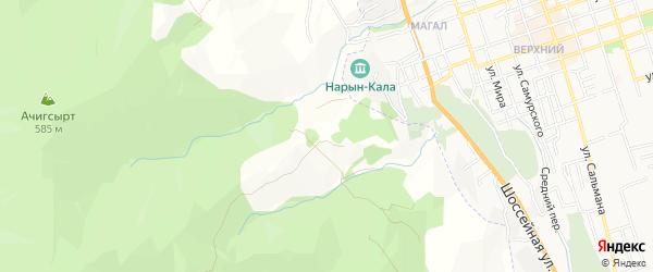 Карта села Дюзляра в Дагестане с улицами и номерами домов