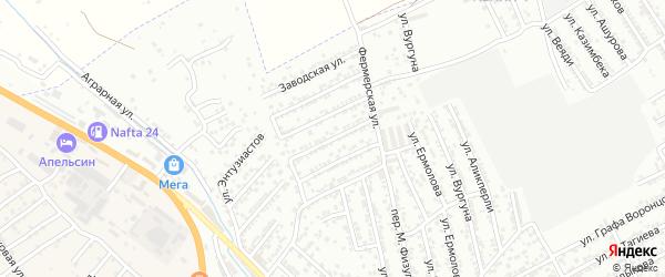 Колхозная улица на карте Дербента с номерами домов