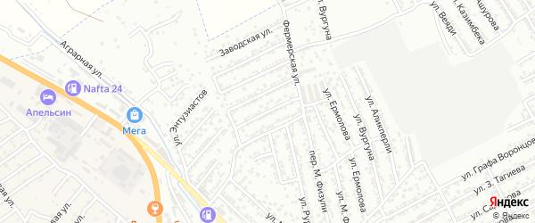 Порт-Петровская улица на карте Дербента с номерами домов