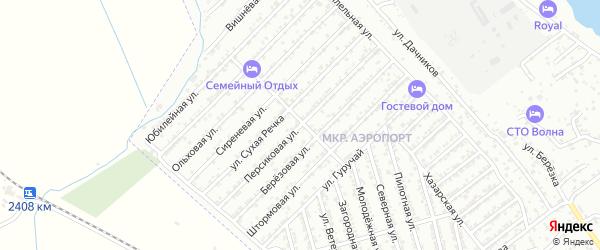 Персиковая улица на карте Дербента с номерами домов