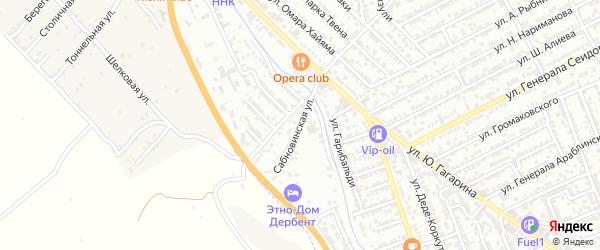 Сабновинская улица на карте Дербента с номерами домов