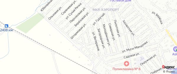 Крайняя улица на карте Дербента с номерами домов