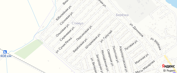 Березовая улица на карте Дербента с номерами домов