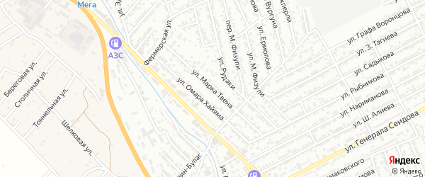 Улица М.Твена на карте Дербента с номерами домов