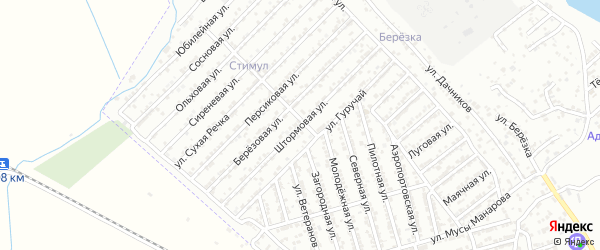 Штормовая улица на карте Дербента с номерами домов