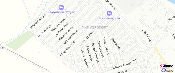 Улица Гуручай на карте Дербента с номерами домов