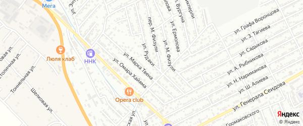 Улица Рудаки на карте Дербента с номерами домов