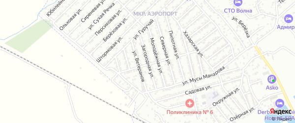 Загородная улица на карте Дербента с номерами домов