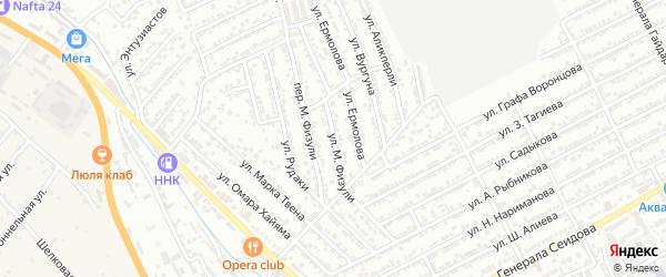 Улица М.Казим-Бека на карте Дербента с номерами домов