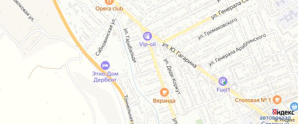 Улица Грибоедова на карте Дербента с номерами домов