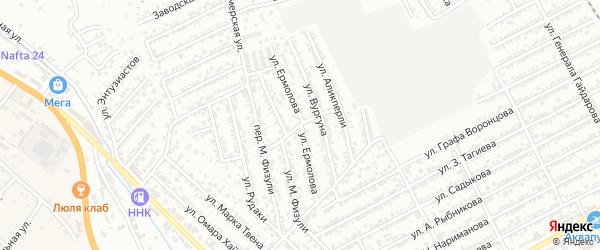 Улица Ермолова на карте Дербента с номерами домов