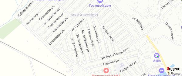 Северная улица на карте Дербента с номерами домов